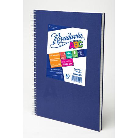 Cuaderno Laprida 98 hojas. Forrado Araña Rayado