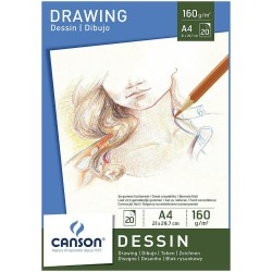 Block Canson Drawing Dessin A4 160gr