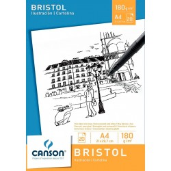 Block Canson Bristol Ilustración A4 180gr