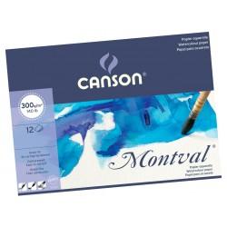Block Canson Montval 24x32cm 300gr