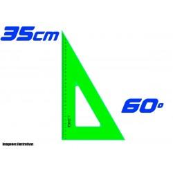 Escuadra Dozent 35cm Cateto 60º
