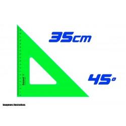 Escuadra Dozent 35cm Hipotenusa 45º