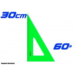 Escuadra Dozent 30cm Cateto 60º