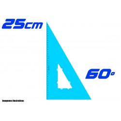 Escuadra Plantec 25cm Cateto 60º