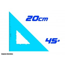 Escuadra Plantec 20cm Hipotensa 45º