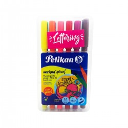 Marcadores Pelikan Lettering punta pincel x12