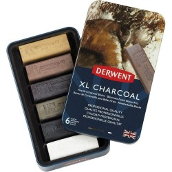 Carbonillas Derwent XL Charcoal x6