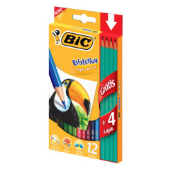 Lapices de colores Bic Evolution x12 + 4 Grafitos de regalo