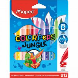 Marcadores Maped Jungle Color Peps x12