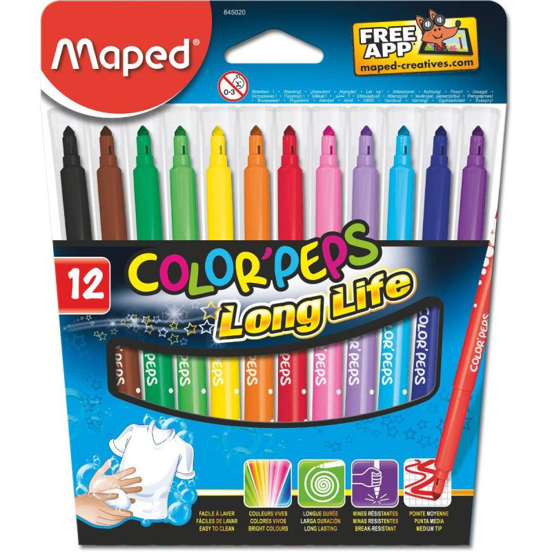 Macadores Maped Color´Peps Long Life x12