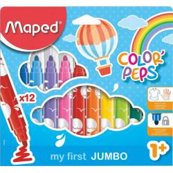 Marcadores Maped Jumbo x12 Color Peps