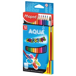 Lapices Maped Color Peps Aqua Acuarelables x12