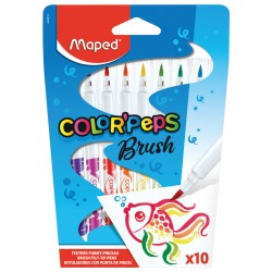 Marcadores Maped Brush Color Peps x10