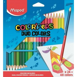 Lapices Maped Color Peps Duo x24
