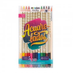 Lapices Acuarelables Mooving Serious Coloring x12