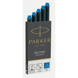 Cartuchos Parker Azul Lavable x5