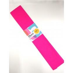 Papel Crepe Rosa Fluo Olami 50cm x 2mts