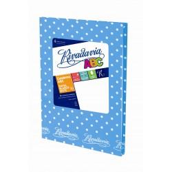Cuaderno Rivadavia ABC Lunares 50 Hojas Rayadas Celeste