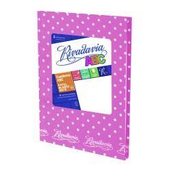 Cuaderno Rivadavia ABC Lunares 50 Hojas Rayadas Lila