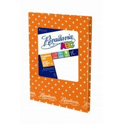 Cuaderno Rivadavia ABC Lunares 50 Hojas Rayadas Naranja