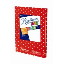 Cuaderno Rivadavia ABC Lunares 50 Hojas Rayadas Rojo