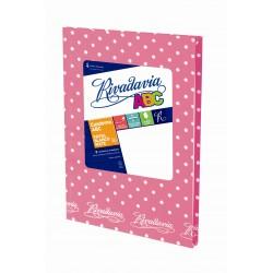 Cuaderno Rivadavia ABC Lunares 50 Hojas Rayadas Rosa