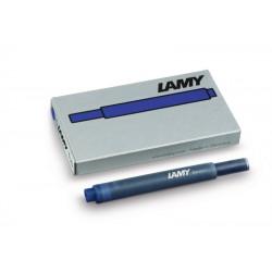 Cartucho Lamy T10 Azul Negro x5