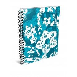 Cuaderno Arte Bloom 80 Hojas Rayado