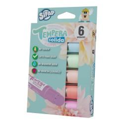 Tempera Solida Pastel Sifap x6