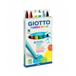 Marcadores Giotto Turbo Maxi x6