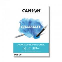 Block Canson Graduate A5 250gr 20 hojas
