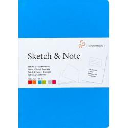 Cuadernos Hahnemühle Sketch & Note A6 125gr 20h (Celeste...