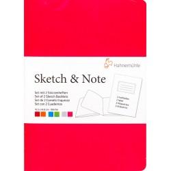 Cuadernos Hahnemühle Sketch & Note A5 125gr 20h (Rojo y...