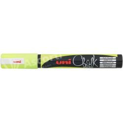 Marcador Uni Chalk PWE-5M Amarillo Fluo Tiza Líquida