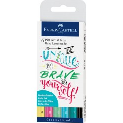 Set Faber Castell Pit Artist Hand Lettering Pastel x6