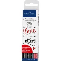 Set Faber Castell Pit Artist Lettering Love x4