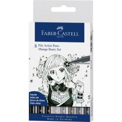 Set Faber Castell Pit Artist Manga Basic x8