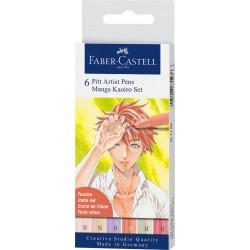 Set Faber Castell Pit Artist Manga Kaoiro x6