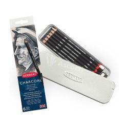 Lapices Derwent Charcoal x6