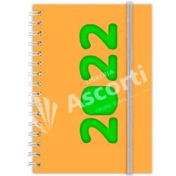 Agenda Cangini Filippi Neon Naranja Nº6 Diaria