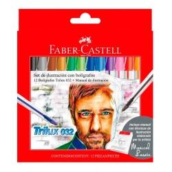 Set Ilustración Boligrafos Trilux 032 x 12u + Manual