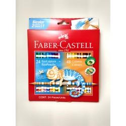 Lapices Bicolor Faber Castell x24 (48 colores)