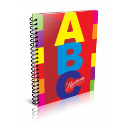 Cuaderno ABC Espiralado 21x27cm 100 Hojas Rayado