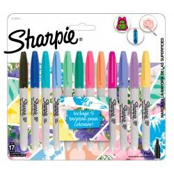 Marcadores Sharpie Girls Pastel x12 +5 Tarjetas