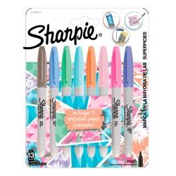 Marcadores Sharpie Girls Pastel x8 +5 Tarjetas