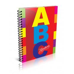 Cuaderno ABC Espiralado 21x27cm 60 Hojas Cuadriculado