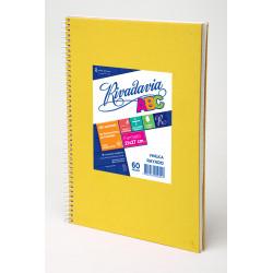 Cuaderno ABC Forrado Amarillo con Espiral 21x27cm 60...