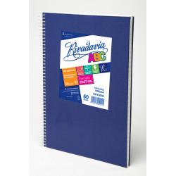 Cuaderno ABC Forrado Azul con Espiral 21x27cm 60 Hojas...